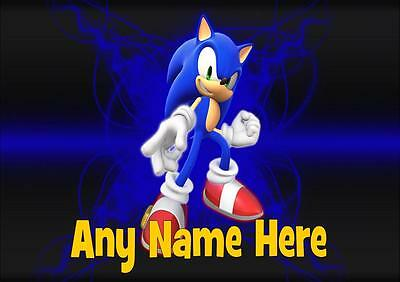 Sonic The Hedgehog Personalised Placemat