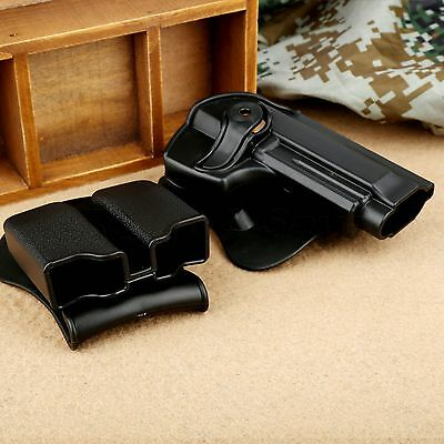Tactical Rotary Holster Double Paddle Magazine Pouch for Handgun Beretta 92 96