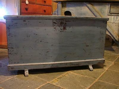 C19th painted pine blanket box/coffer/chest