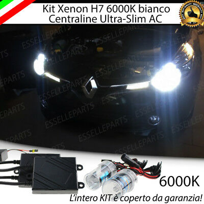 KIT XENON XENO H7 AC 6000k 35W SPECIFICO PER RENAULT CLIO 4 IV NO ERROR