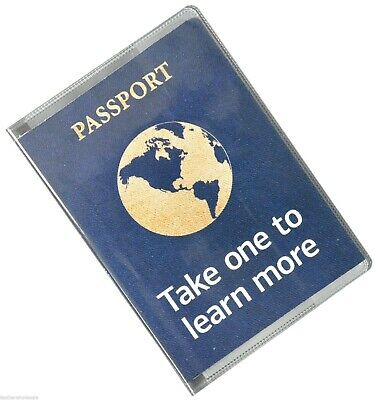 Clear Thick Plastic Vinyl Passport Cover  New Great Quality by Marshal