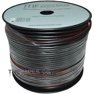 TWZ SWB10-250 True 10 Gauge 250' Feet Black PVC Speaker Wire for Home/Car Audio