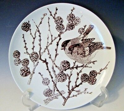 Nymolle Denmark Faience Birds Collector Plate 4053-1256 Dompap by Mads Stage