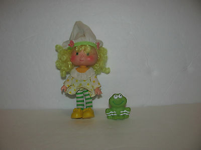 Vtg Strawberry Shortcake Lemon Meringue  Doll with Frappe Frog Pet