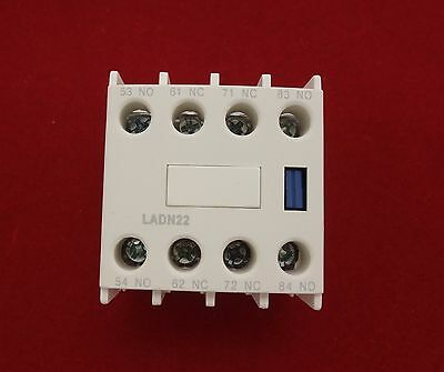 1PC Auxiliary Contact Block Fits LADN22 2NO/2NC USE FOR LC1D NEW TYPE CONTACTOR