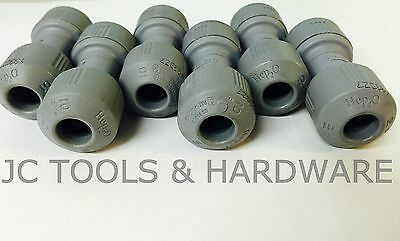 10x Hepworth Hep20 10mm straight connectors. Hep2o hep push fit coupling coupler