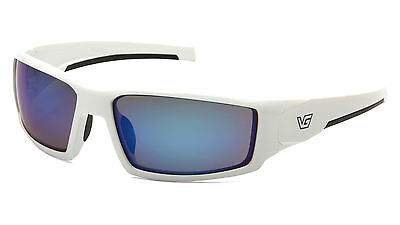 Venture Gear Pagosa VGSW565T White/Ice Blue Mirror Safety Sunglasses AF Lens
