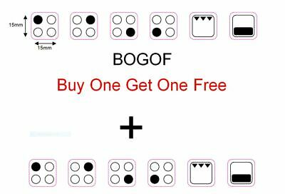 4 Ring Cooker Oven Stove Range Hob Sticker Symbols Replacement Label Decals