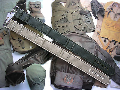 WWII Canvas 1pc NATO® RAF Military Army drab XL watchband strap IW SUISSE USA
