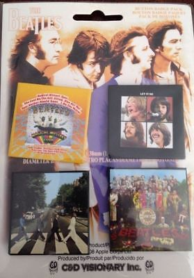 """The Beatles Button Badge Pack  Four 1.5"""" Button"""