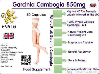 GARCINIA CAMBOGIA HCA Pure Extreme Detox Max Diet WEIGHT LOSS FAT BURNER Caps