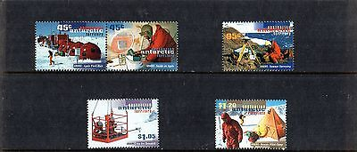 1997 Australian Antarctic Territory 50th Anniv of ANARE  Set Of 5 MNH, Join