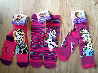 DISNEY FROZEN Children Socks Anna Elsa Olaf Girls Character 3-8 Yrs UK 6-12.5