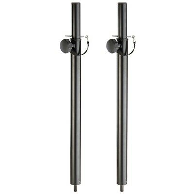Pair Of M20 Screw Dj Pa Adjustable Extension Sub Speaker Satellite Pole 35Mm