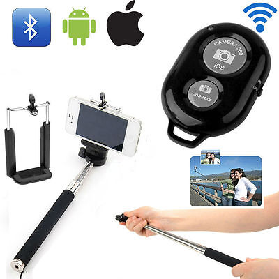 Extendable Selfie Stick Monopod + Remote Control Bluetooth For Android & iOS