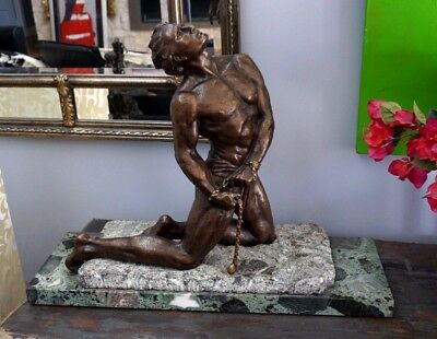 Very Stunning Large Art Deco Bronze - The Slave