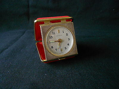 Vintage  1950's / 1960's Estyma  Fold  Away  Travel  Clock  (  With  Alarm  )
