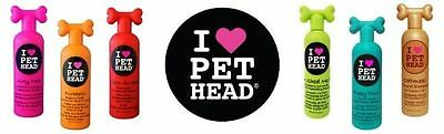 Pet Head Shampoo/Conditioner/Sprays FULL Dog Puppy Grooming Product Range