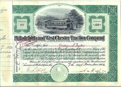 Philadelphia & West Chester Traction Company Stock Certificate
