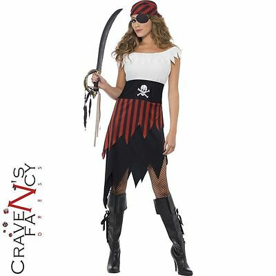 Pirate Wench Costume Buccaneer Ladies Female Fancy Dress Halloween Hen Party