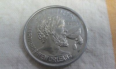 Vintage 1973 Mardi Gras Doubloon: BACCHUS GOES TO THE MOVIES!