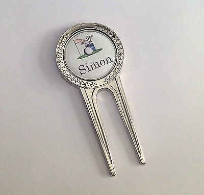 Personalised Golf Pitch Mark Divot Repair Tool, Free Engraving