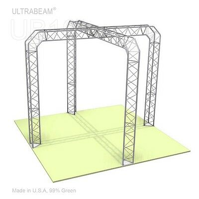 Trade Show Booth 10 X 10 X 8 Ft Ultrabeam Steel Triangle Truss, X Shaped