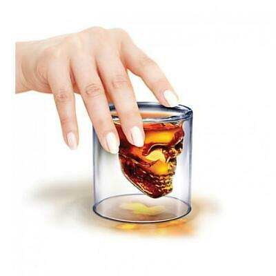 Crystal Skull Head Shot Glass | shots skulls vodka whiskey alcohol glasses drink