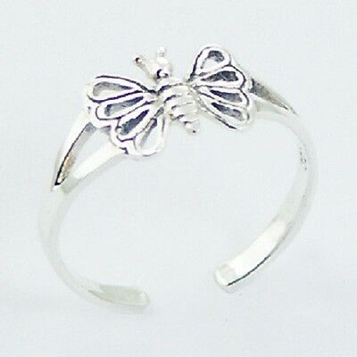 Wholesale bulk lot 10 x toe ring 925 sterling silver open butterfly 8mm new PSA