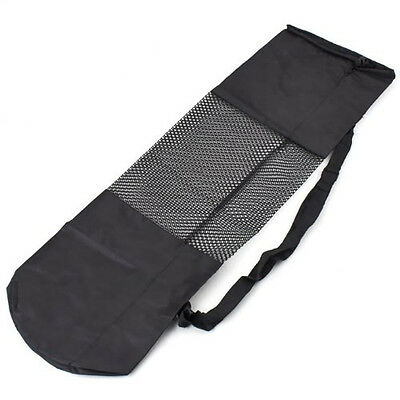 Adjustable Strap Yoga Pilates Bag Portable Yoga Mat Bag Carrier Mesh Center LW