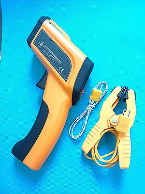High Temperature Infrared Laser Thermometer -50~2200°C/3992°F w/ K Type Input UK