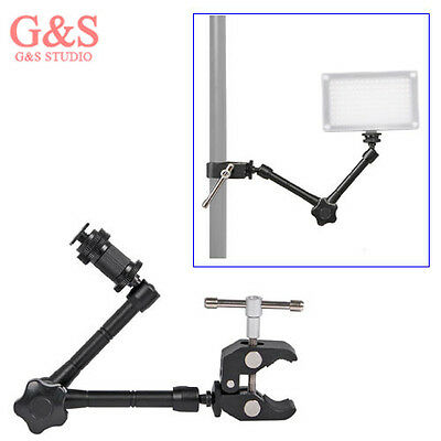 "11"" inch Articulating Magic Arm + Super Clamp for LED light DSLR Rig LCD Monitor"