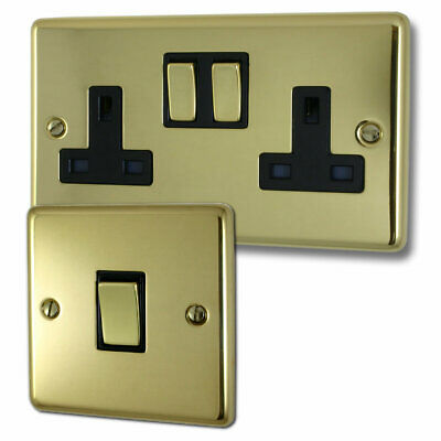 G&H Brassware Polished Brass Sockets and Switches - Full Range