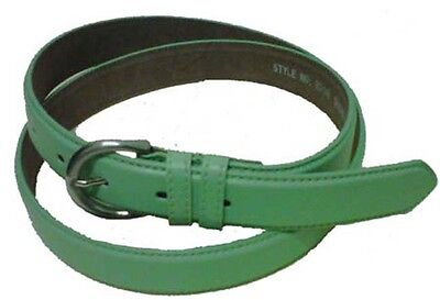 """5549 - 1.25"""" Wide Mint Green Leather Dress Belt For Ladies & Free Us Shipping"""