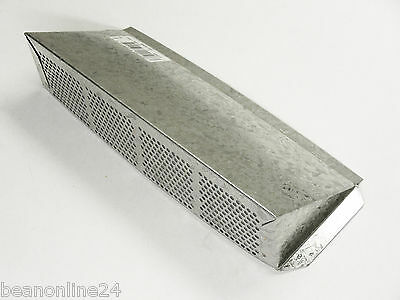 Galvanised Hooded Air Vent / Magpie Vent  255 x 90mm