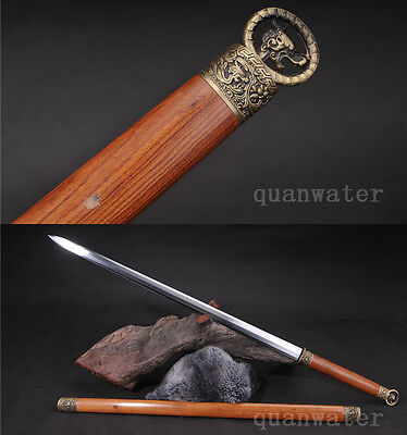 42.5'rosewood 1095 High Carbon Steel Blade Handmade Chinese Sword Very Sharp