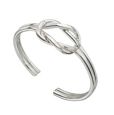 925 Sterling Silver Adjustable Open Knot Toe Ring