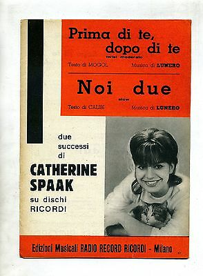 PRIMA DI TE, DOPO DI TE-NOI DUE# Spartito Radio Record Ricordi # Catherine Spaak