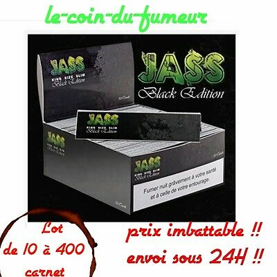 "Lot De 1 à 400 Carnets De Feuille à Rouler JASS Slim ""Black Edition"", TOP PRIX !"
