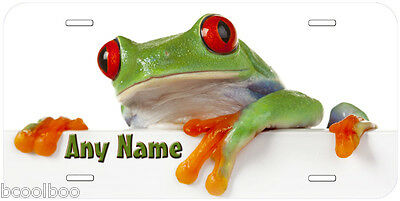 Red Eye Frog Personalized Any Name Novelty Car License Plate P07
