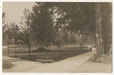 RPPC Bloom Street Park, DANVILLE PA Montour County Real Photo Postcard 2