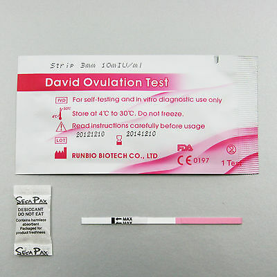10 x PURBAY Test d'Ovulation Bande Ovulation Test Ovulation Test LH LH by David