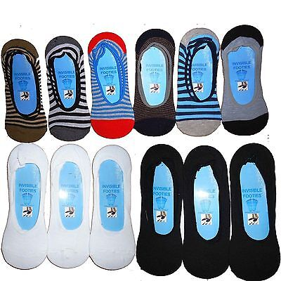 6 pairs mens invisible trainer liner socks no show secret footsies SIZE UK 6-11