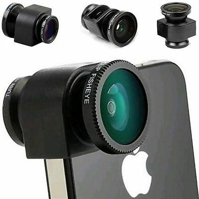 3 in 1 Camera Set Fish Eye, Wide Angle, Macro Lens For iPhone 5 Phone Accessory
