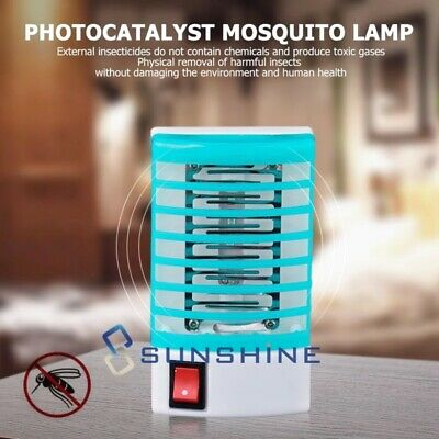 New Electric LED Mosquito Fly Flying Bug Insect Trap Zapper Killer Night Lamp US