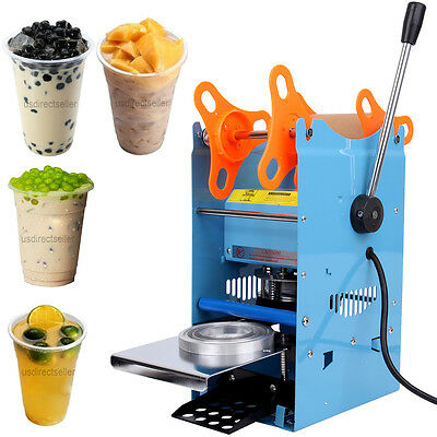 270W Manual Cup Sealing Machine 300 500 Cups/hr Coffee Boba Bubble Tea Sealer