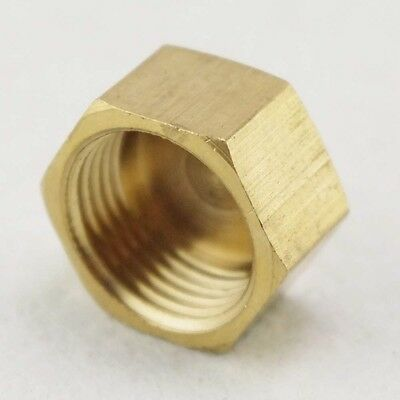 "5PCS 1/4"" BSP Female Threaded Pipe Hex Head Brass Plug Cap Cover Fitting"