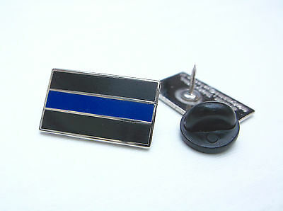 Thin Blue Line Police Officer Mourning Band Cops Lapel Pin Badge Tie