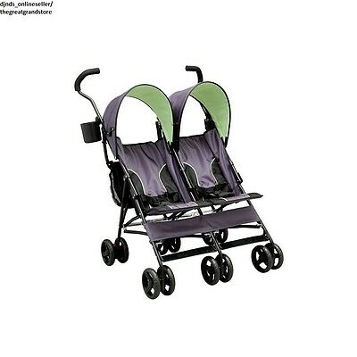 Double Umbrella Strollers Twin Baby Seats Canopy Folding Lightweight Toddler Two  sc 1 st  PicClick & DOUBLE UMBRELLA Stroller Baby Toddler Twin Canopy Reclining ...
