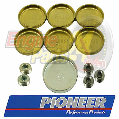 Ford 302 351 Cleveland Brass Welch Or Welsh Plug Set Pioneer Pe-109-Br